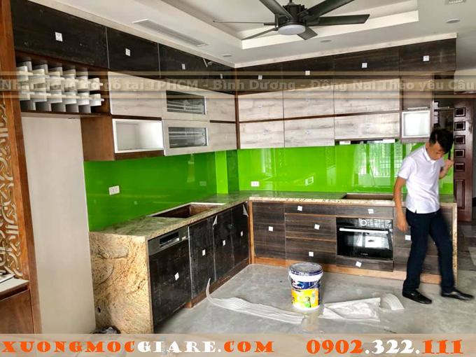 tủ bếp laminat cao cấp Quận Tân Bình