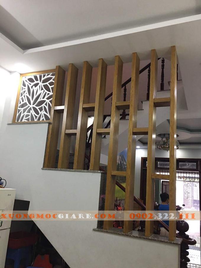 Lam gỗ phòng khách giá rẻ