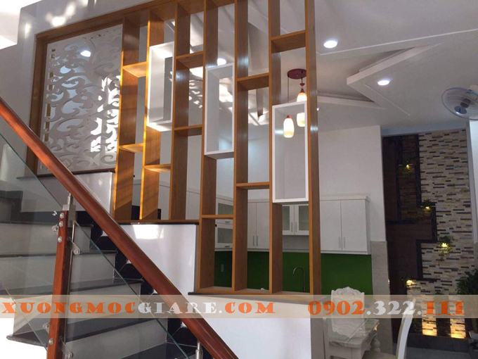 lam gỗ bậc tam cấp cầu thang