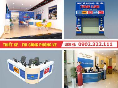 Công ty thiết kế nội thất phòng vé máy bay ở TPHCM