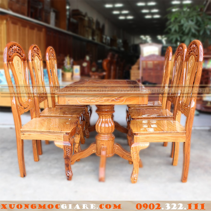 xưởng đóng bàn ghế làm từ gỗ từ nhiên