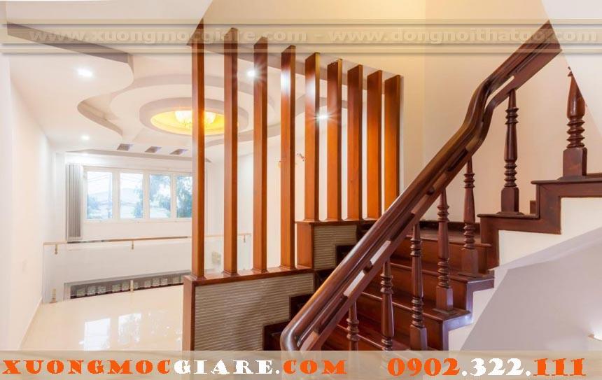 chuyên đóng cầu thang gỗ, tay vịn cầu thang giá rẻ