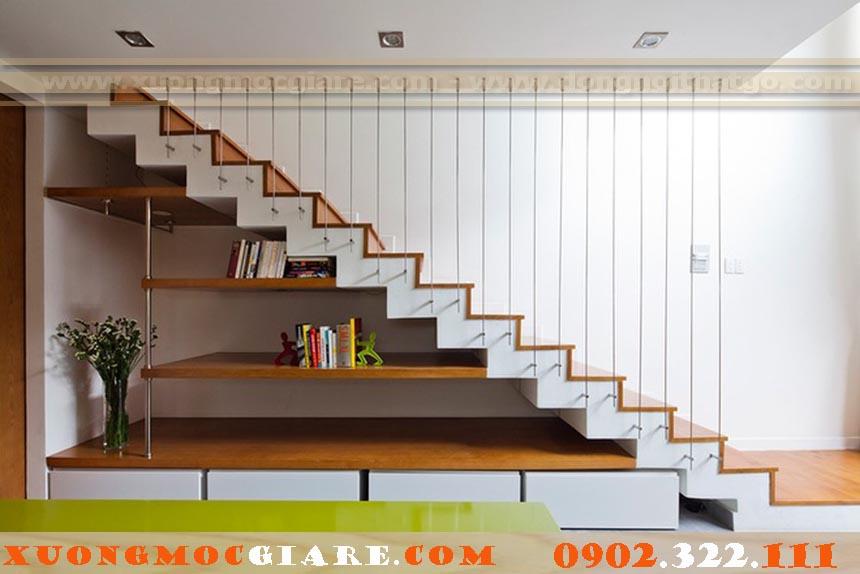cầu thang bằng gỗ công nghiệp