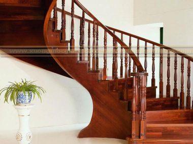 Chuyên đóng cầu thang gỗ, tay vịn cầu thang đẹp giá rẻ