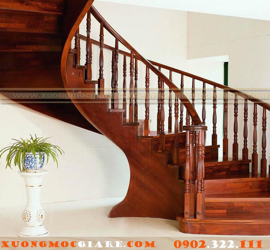 đóng cầu thang gỗ