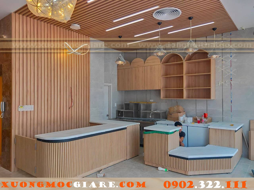 nội thất shop, cửa hàng bằng gỗ công nghiệp