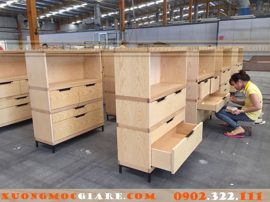 đóng tủ gỗ các loại bằng gỗ công nghiệp